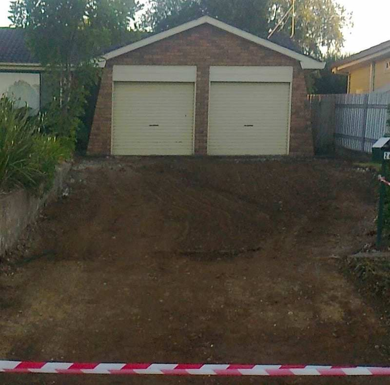 Before MLC Fab reinstated Concrete Driveway Hunter Valley Concreting
