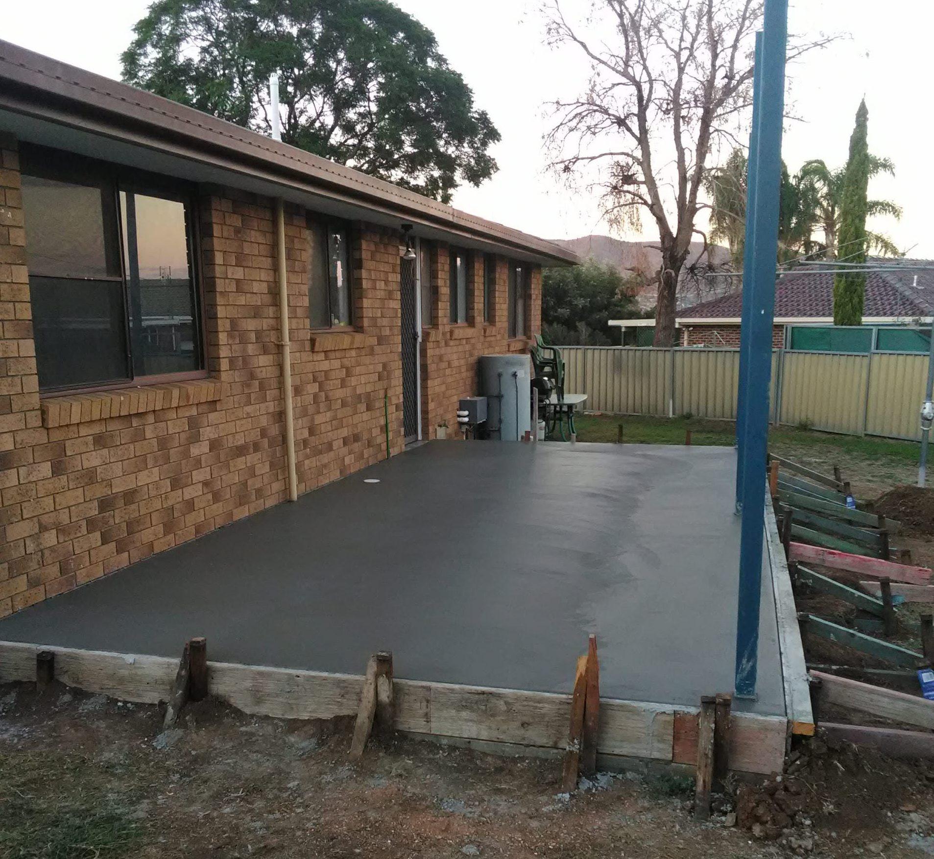 MLC Fab Deck Building, Pergola, Concrete Driveway Custom Carport.