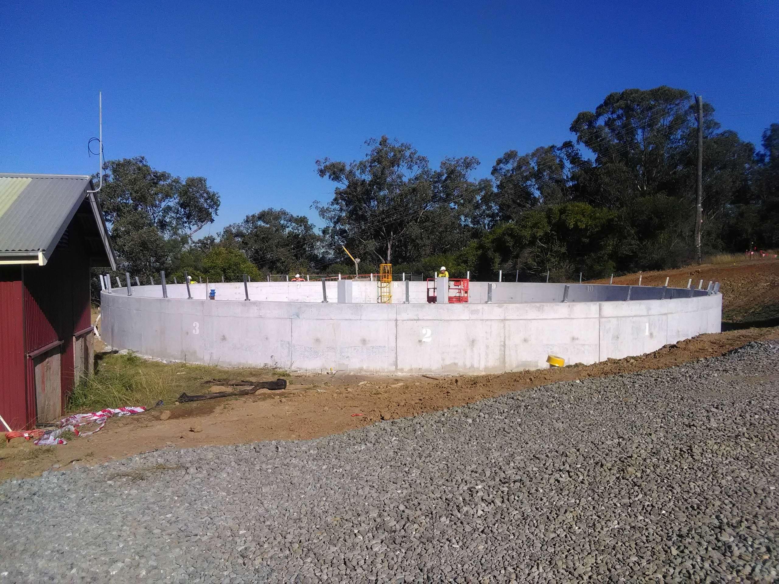 MLC Fabricatin - Reservoir Tank Project Gowrie Hunter Valley