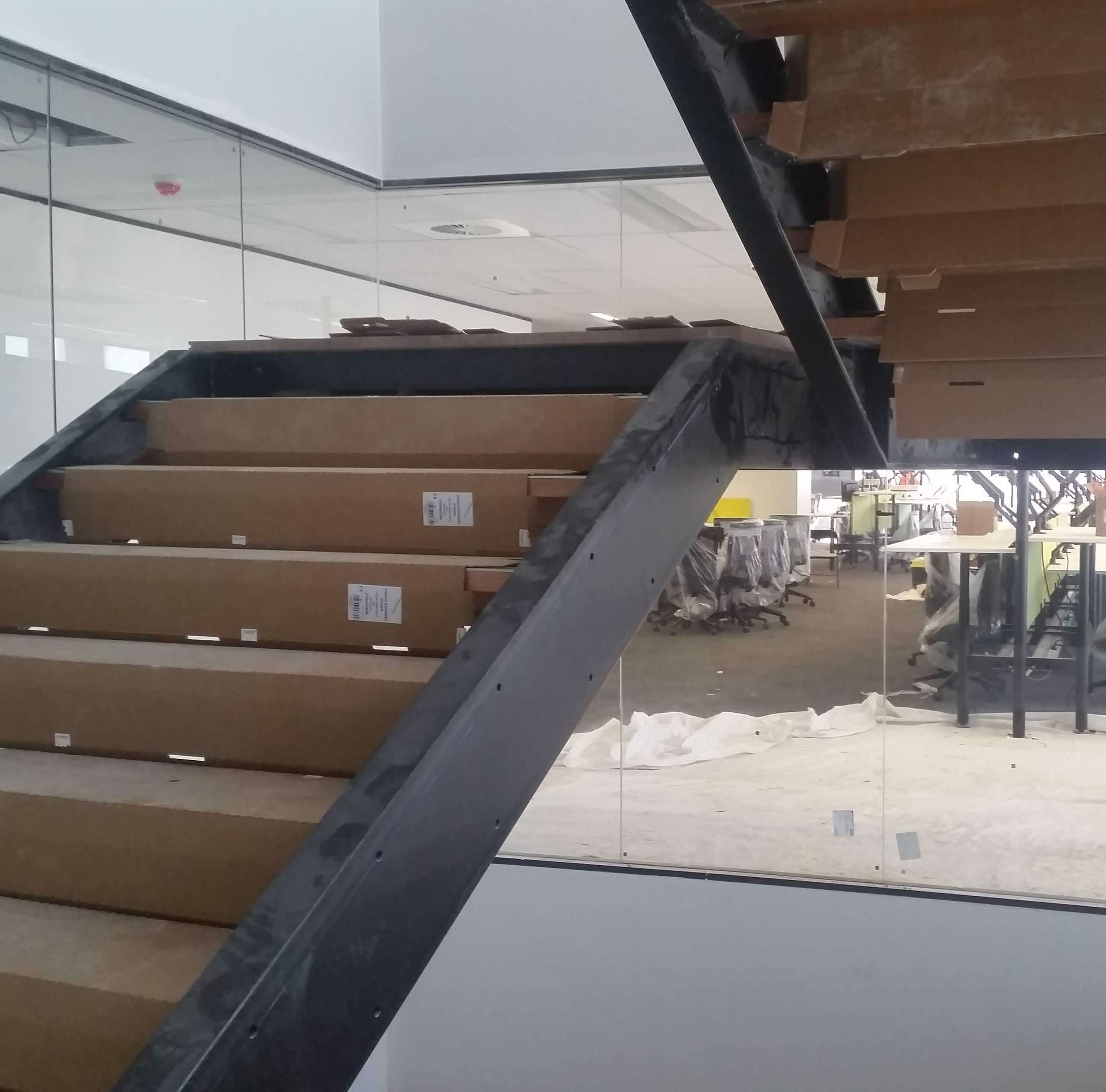 MLC Fabrication Security Fitout Multi Level Staircase Mascot NSW DAWR